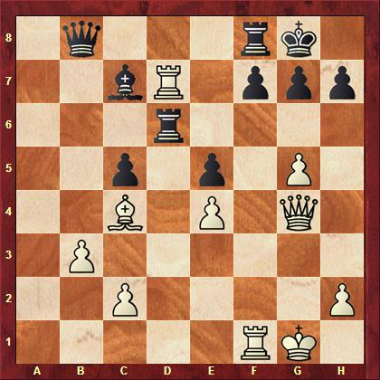 Noetzel (ESG) vs Bosser (Kamp-Lintfort) nach 28. ... Td6