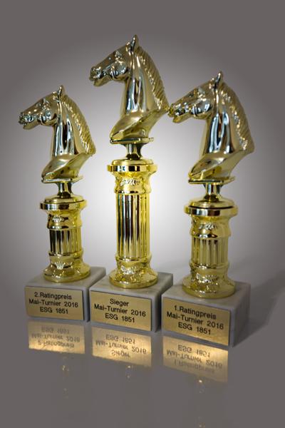 Mai-Turnier Pokale
