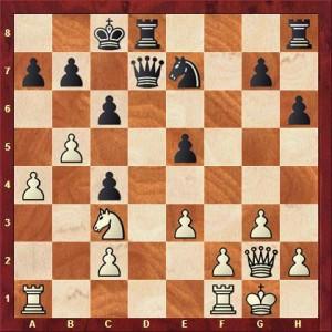 Niebergall vs Bickel nach 18. ... fxe5